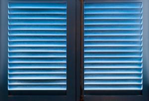 blue wooden shutters